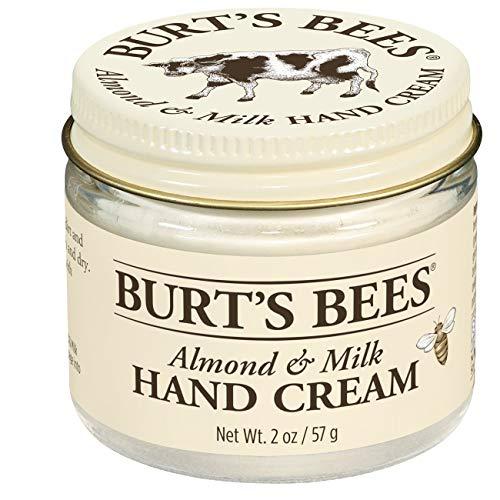 Burt\'s Bees 100{568a3bac8081231e957097866f7925fcbc2931a0482311e11a1e3c14c937e16f} Natürlich Handcreme, Mandel und Milch mit Vitamin E, Handpflege für tockene Hände, 1er Pack x 57 g