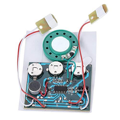 zeichnung Modul Chip mit 3 Knopfzellen, Neu Aufnahme Funktion Tonaufnahme Modul für DIY Geschenk Audiokarten(Doppel Tasten Kabel) ()