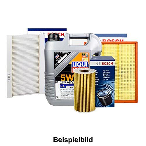Preisvergleich Produktbild BOSCH FILTER SET INSPEKTIONSPAKET + 5L LIQUI MOLY 5W-30