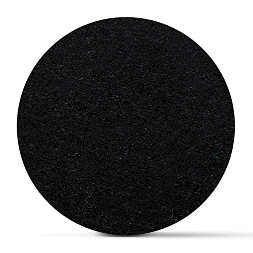 SMACC Filzuntersetzer aus Schafwolle, rund 8er Set (Farbe wählbar) - Glasuntersetzer aus 100% natürlichem Wollfilz, Untersetzer für Bar und Tisch Einrichtungsideen als Tischdeko (Schwarz)