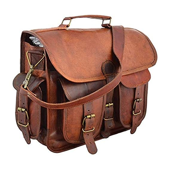 ALCRAFT Leather Briefcase for Men and Women 15