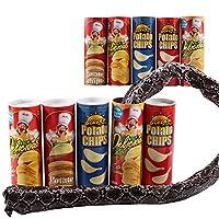 mi ji 1 PCS Tricky Toys Potato Chip Snake Can Jump Fake Snake Joke Prank Fool