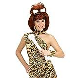 Amakando Knochenohrringe Knochen Ohrringe Steinzeit Urmensch Ohrschmuck Zulu Ohr Schmuck Dschungel Tarzan Knochenschmuck Halloweenparty Halloween Party Accessoires Karneval Kostüm Zubehör