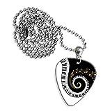 Klaviertasten & Music Notes Logo Gitarre Plektrum Kette (GD)