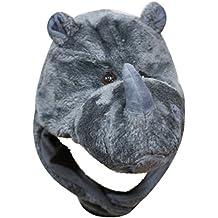Grigio Rinoceronte animale cappello costume unisex bambini adulti per feste di Halloween