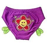 Fortuning's JDS Bikini dei costumi da bagno dei bambini animati belli, breve nuotata del infantile , tronchi di nuoto triangolari del bambino