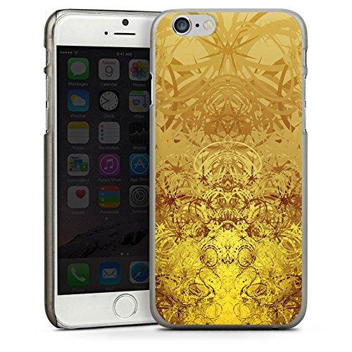 Apple iPhone 5s Housse Étui Protection Coque Or Motif Motif CasDur anthracite clair
