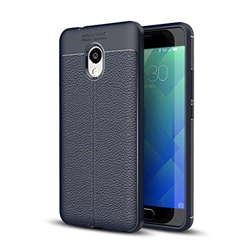 Meizu M5s Hülle, MSK® Ledertasche Schutzhülle Case - PU Leder Material TPU Soft Silikon Kasten Abdeckung Backcover Handyhülle für Meizu Meilan 5s / Meizu M5s - Marineblau