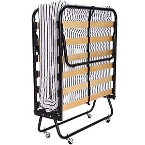 Ospite letto pieghevole salvaspazio letto con materasso pieghevole rete a doghe letto in legno - Letto pieghevole con materasso ...