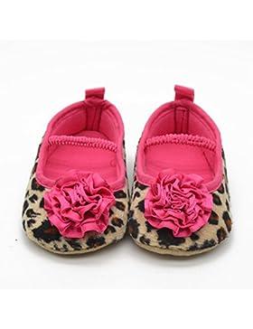Hongfei Zapatos de niña de leopardo suave flor de algodón