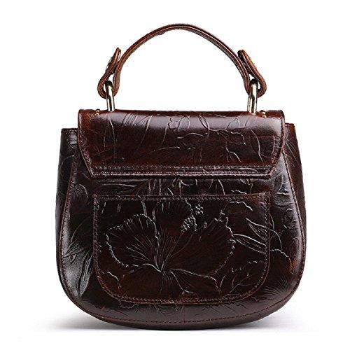 Damen Fashion Schultertasche Leder CrossBody Umhängetasche Für Frauen Handtaschen Reise Mädchen Satchel Aktentasche Brown