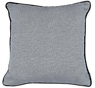 McAlister Textiles Herringbone Twill | Extra Large Funky Moroccan Shabby Chic Chevron Pattern Black & White Scatter Cushion Covers | 60cm 24x 24
