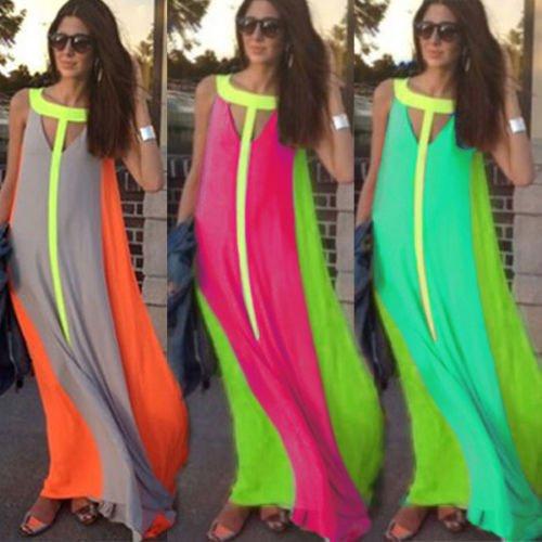 Ärmellos Kleid Lang IHRKleid® Damen Maxikleid Lang Party mit Spitze Chiffon Sommerkleid Strandkleid Elegant Grün