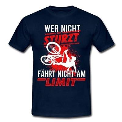 Wer Nicht Stürzt Fährt Nicht Am Limit Spruch Männer T-Shirt von Spreadshirt®