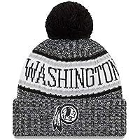 huge selection of d614c 1fc1f New Era NFL Sideline 2018 Bobble Beanie Washington Redskins
