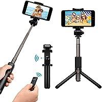 Mpow Perche Selfie Trépied Bluetooth avec Télécommande 360° Selfie Stick 3 en 1 Monopode Extensible de Poche pour iPhone X /8 plus/7/6s/SE/5, Samsung Galaxy Series,OnePlus 6/5t/5, Smartphone Android etc.