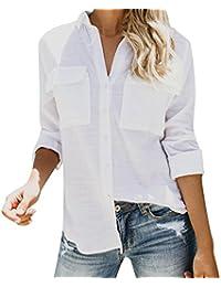 quality design eaee0 fc679 Amazon.it: camicia bianca donna - M / Bluse e camicie / T ...