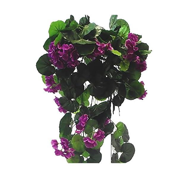 Trendy – Guirnaldas de seda artificial, 70 cm, color morado