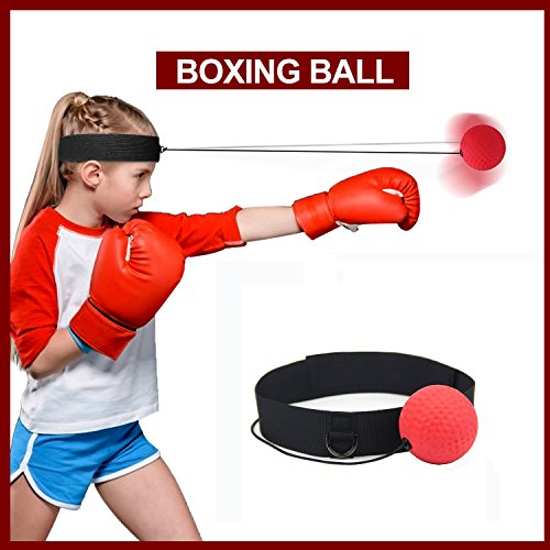 PU Fight Boxing Ball Equipment With Head Band For Reflex Speed Training Boxing