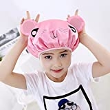 Baanuse Gorro De Ducha Baño Reutilizable, Spa Salón De Cuidado, Para los niños, rosa ratón