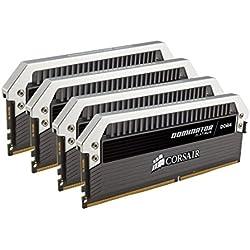 Corsair Dominator Platinum Kit di Memoria per Desktop a Elevate Prestazioni, DDR4 32GB (4x8GB), 3000 MHz C15 XMP 2.0