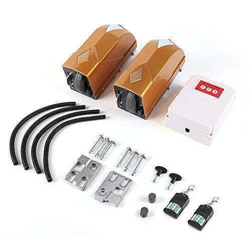 Elektro-Türöffner-Doppelschaukel 2Motoren + 2Fernbedienung + 1Box-Kontrolle