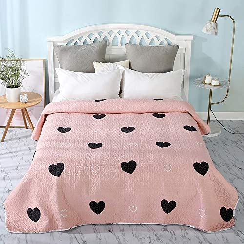 WSF-quilts, Sommer rosa Baumwolle/Polyester Quilt 1 Stück Twin Size Student Quilts Sofa Decke Tagesdecke Bettdecke Blatt Bettwäsche Bettdecken (Color : B 1 13, Size : 200 x 220cm) -
