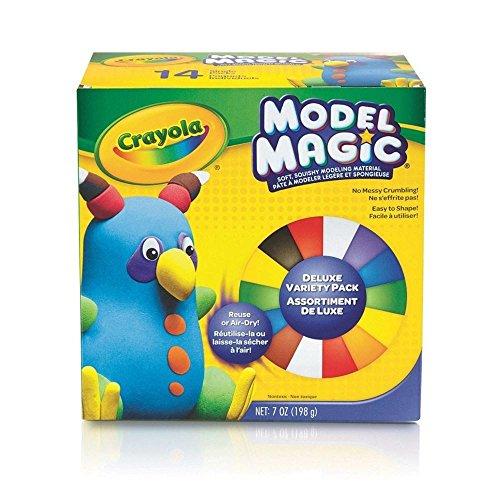 Crayola-23-2403-E-000- Model Magic - Bunte Knetmasse, 14Beutel