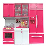 #5: MAGNIFICO™ 3 Piece Kitchen Set for Girls Battery Operated with LED Light & Sound