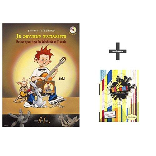 Méthodes et pédagogie LEMOINE TISSERAND THIERRY - JE DEVIENS GUITARISTE VOL.1 + CD + CAHIER DE TEXTE Guitare acoustique