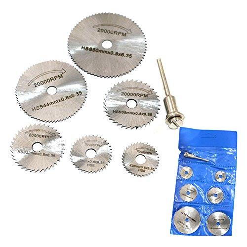 6 Piezas HSS Metal Circular Saw Disc Wheel Blades Cut Off Dremel Taladro Herramientas Rotatoriales