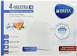 Brita Maxtra+ - 4 Ersatzfilter Kompatibel mit Kännchen 4 Monaten Wasser Filtrada-4 Kartuschen, Plus