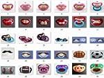 Funny Sucette Design Dents Moustache...