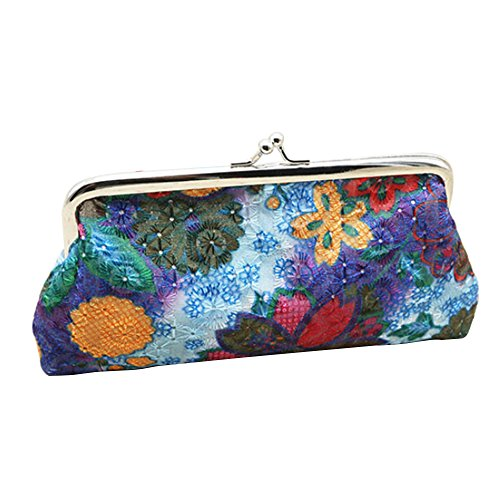 Sanwood Women's Coin Purse Flower Pouch Wallet Money Bag