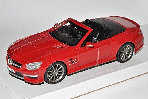 Preisvergleich Produktbild Mercedes-Benz SL63 AMG SL Cabrio Rot R231 Ab 2012 1/24 Maisto Modell Auto mit individiuellem Wunschkennzeichen