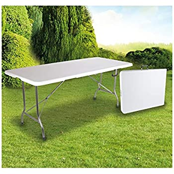 OSE Grande Table de Jardin Pliante 8 pers Blanc 180 cm: Amazon.fr ...