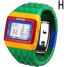 KanLin1986 Reloj digital unisex, Reloj digital nisex, Correa suave, LED, Deportivo H