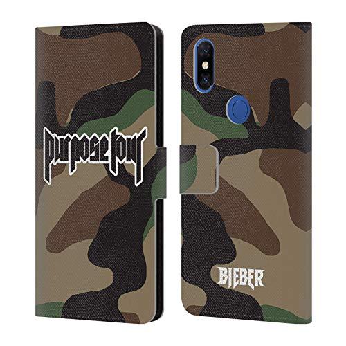 Head Case Designs Offizielle Justin Bieber Camouflage Tour Merchandise Brieftasche Handyhülle aus Leder für Xiaomi Mi Mix 3