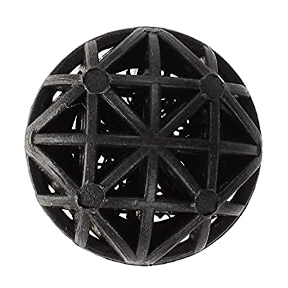SODIAL(R) 50 Pcs 18mm Diameter Black Bio Balls for Aquarium Pond Filter 2