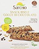 Sarchio Snack Riso e Gocce di Cioccolato - Biologico - senza Glutine - 6 confezioni da 80 g