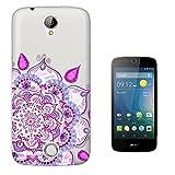 C0641 - Cool Hot Pink Sketch Art Hamsa Henna Flower Luck