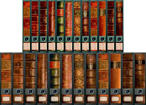 'File Art–Archivadores Diseño Etiquetas–Diseño Folio para 12Ancho + 12estrecho archivadores como Colección FA de AJ311+ 312+ 313+ 609+ 610