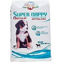 Croci Super–Bolsa para pañales, absorbente, antideslizante perro 90x 60, 10unidades