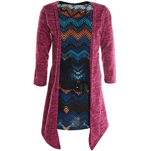 BEZLIT Mädchen Cardigan Kleid Longshirt Bluse Langarm Shirt Longsleeve Sweatshirt 20795,...