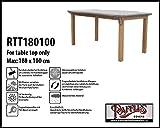 Raffles Covers RTT180100 Schutzhülle nur für Tischplatten 180 x 100 cm