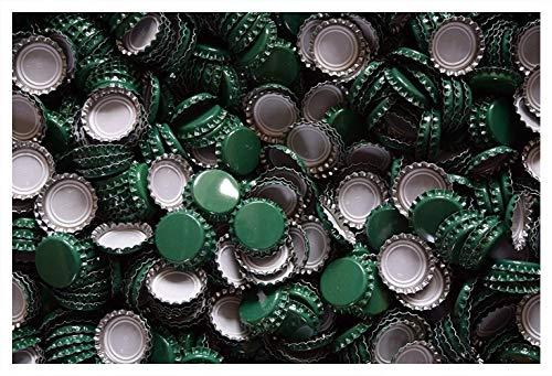 Dekohelden24 1000 Kronkorken grün - neu - ungestanzt - zum Bier selber brauen und zum verschließen jeglicher Standartflaschen und Mehrwegflaschen
