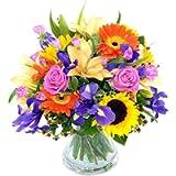 Clare Florist Fantastic Summer Memories Fresh Flower Bouquet - Beautiful Fresh Lilies, Roses and Sunflowers Hand…