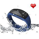 Riversong Pulsera de Fitness, resistente al agua, reloj, pulsómetro, monitor de actividad, con OLED, podómetro, seguimiento de calorías