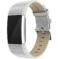 Bracelet de montre pour Fitbit Charge 2, Yustar Cuir véritable Bracelet Bracelet de remplacement pour Fitbit Charge 2
