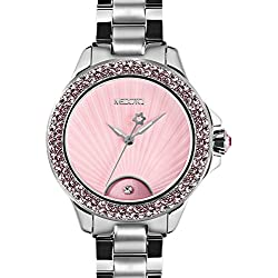 MEDOTA Gratia Women's Studded Automatic Water Resistant Analog Quartz Watch - Pink
